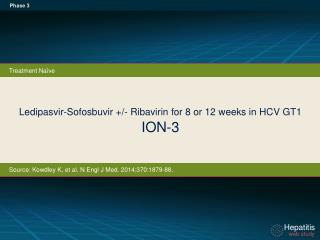 Ledipasvir-Sofosbuvir +/- Ribavirin for 8 or 12 weeks in HCV GT1 ION-3