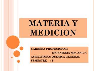 MATERIA Y MEDICION