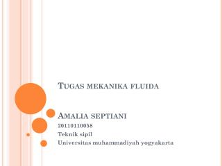 Tugas mekanika fluida Amalia septiani
