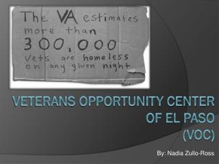 VETERANS OPPORTUNITY CENTER of el  paso (VOC)