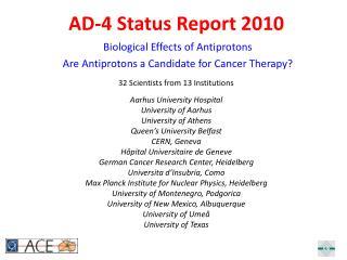AD-4 Status Report 2010