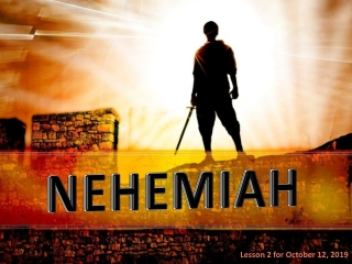 Nehemiah s Prayer  Nehemiah 1:5-11
