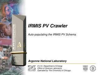 IRMIS PV Crawler