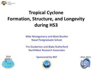 Tropical Cyclone Formation, Structure, and Longevity during HS3