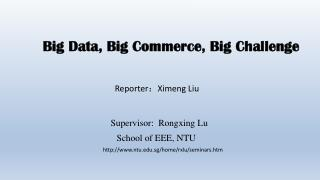Big Data, Big Commerce, Big Challenge