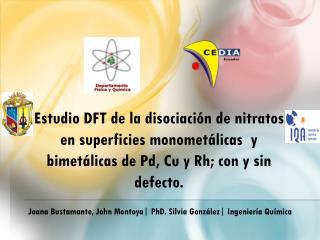Joana  Bustamante, John Montoya | PhD. Silvia González| Ingeniería Química