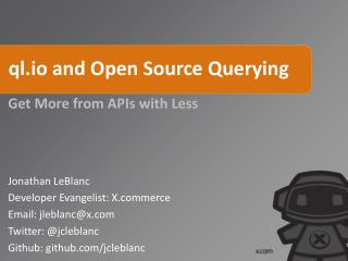 ql.io and Open Source Querying
