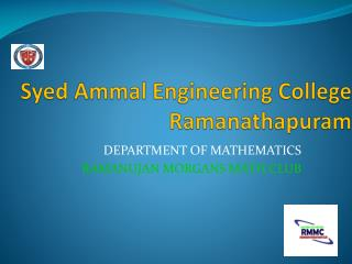 Syed Ammal Engineering College Ramanathapuram
