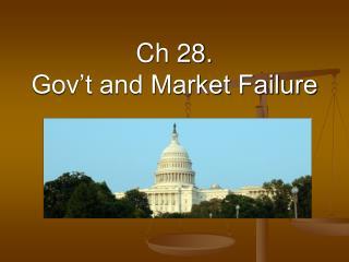 Ch 28. Gov't and Market Failure