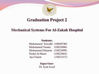 Graduation Project  2 Mechanical Systems For Al-Zakah Hospital Students: