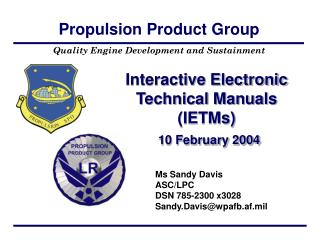 Interactive Electronic Technical Manuals (IETMs) 10 February 2004