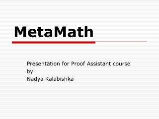MetaMath