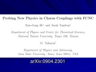 arXiv:0904.2301
