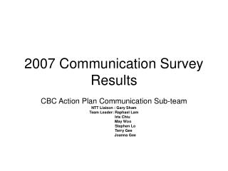 2007 Communication Survey Results