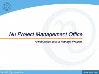 Nu Project Management Office