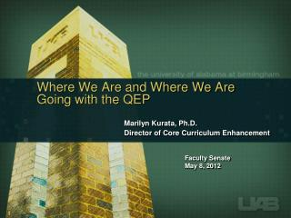 Where We Are and Where We Are Going with the QEP