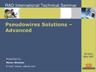 Pseudowires Solutions – Advanced