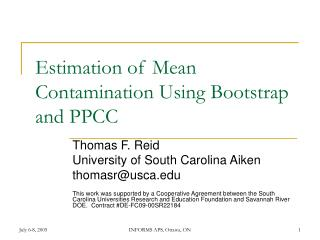 Estimation of Mean Contamination Using Bootstrap and PPCC