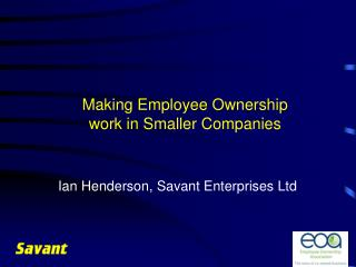 Making Employee Ownership work in Smaller Companies