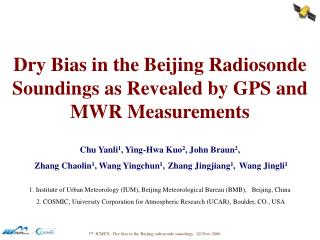 Dry Bias in the Beijing Radiosonde Soundings as Revealed by GPS and MWR Measurements