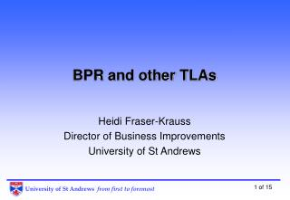 BPR and other TLAs