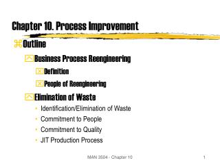 Chapter 10. Process Improvement