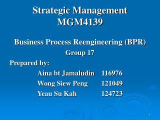 Strategic Management MGM4139