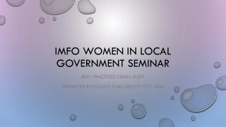 IMFO women in local government seminar