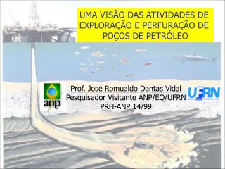 Prof. Jos  Romualdo Dantas Vidal Pesquisador Visitante ANP