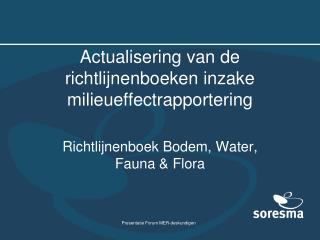 Actualisering van de richtlijnenboeken inzake milieueffectrapportering