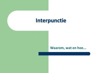 Interpunctie