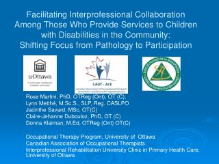 Facilitating Interprofessional Collaboration Among Those Who Provide Services to Children with Disabilities in the Commu