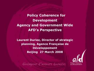 The French Bilateral Development Agency