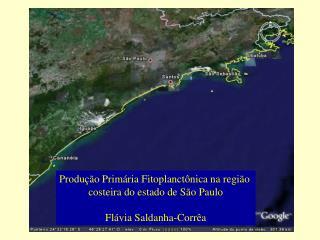 Produ  o Prim ria Fitoplanct nica na regi o  costeira do estado de S o Paulo  Fl via Saldanha-Corr a