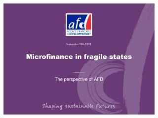 Microfinance in fragile states