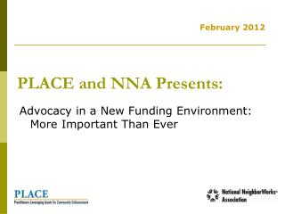 PLACE and NNA Presents: