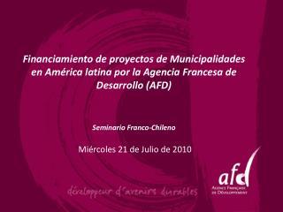 Presentación general de la AFD