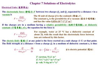 Chapter 7 Solutions of Electrolytes