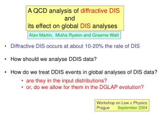 A QCD analysis of  diffractive DIS                      and its effect on global  DIS  analyses