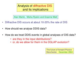Analysis of  diffractive DIS       and its implications