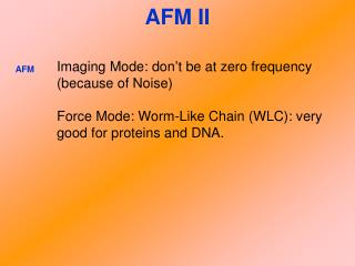 AFM II