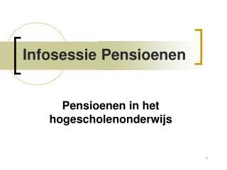 Pensioenen in het hogescholenonderwijs