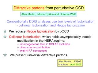 Diffractive partons  from perturbative QCD