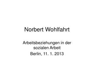 Norbert Wohlfahrt