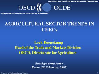 AGRICULTURAL SECTOR TRENDS IN CEECs