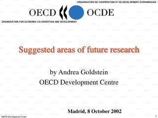 Suggested areas of future research