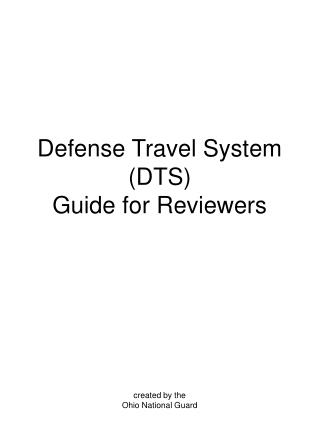 Defense Travel System (DTS) Guide for Reviewers
