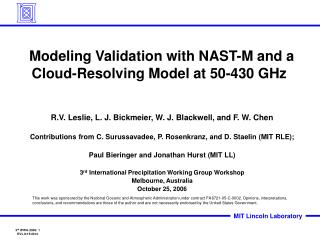 Modeling Validation with NAST-M and a Cloud-Resolving Model at 50-430 GHz