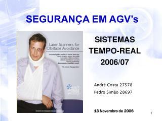 SEGURANÇA EM AGV's