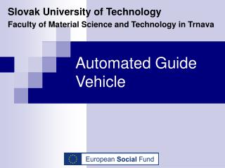 Automated Guide Vehicle